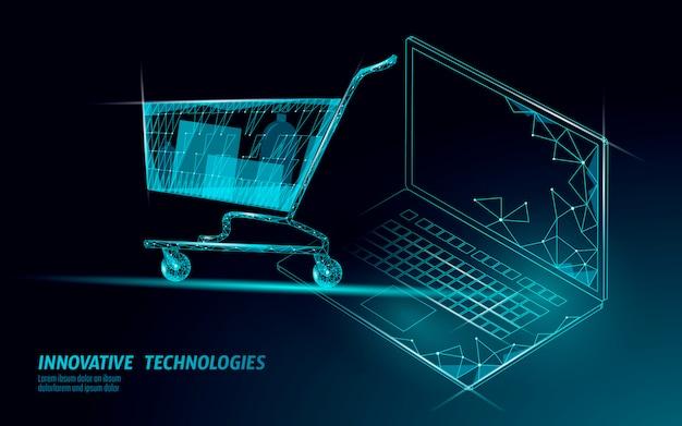 Корзина . интернет-магазин продажа ноутбуков Premium векторы