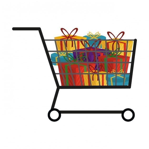 Shopping cart symbol Premium Vector