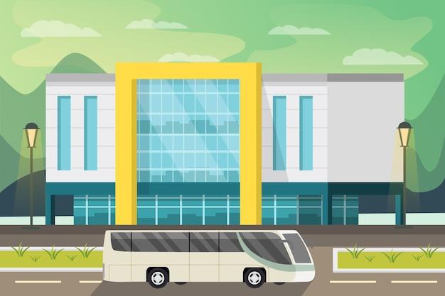 Illustrazione ortogonale del centro commerciale Vettore gratuito