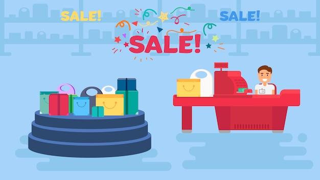 Shopping concept illustration Premium Vector