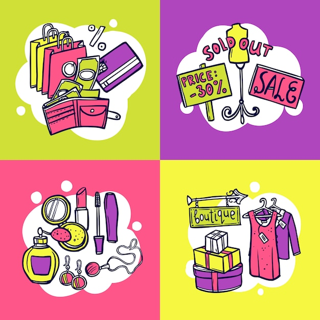 Shopping design concept Free Vector