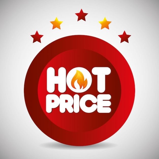 Shopping hot prices theme Free Vector