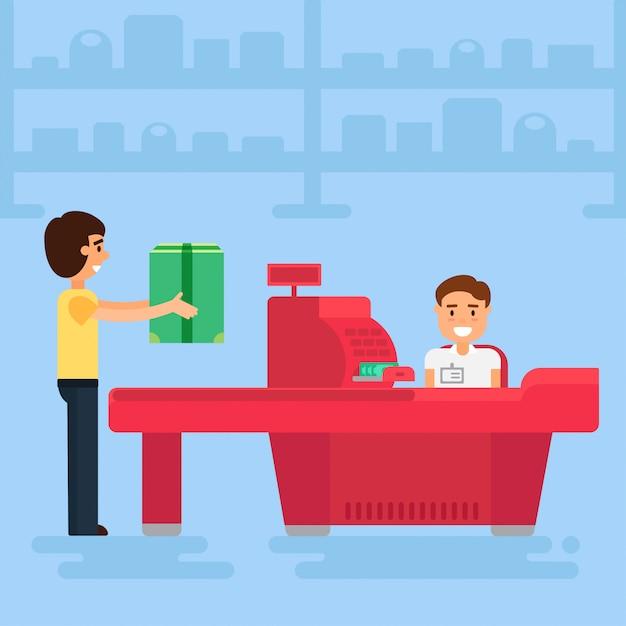 Shopping illustration Premium Vector
