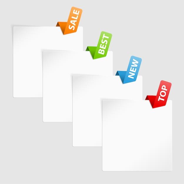Набор торговых ярлыков Premium векторы