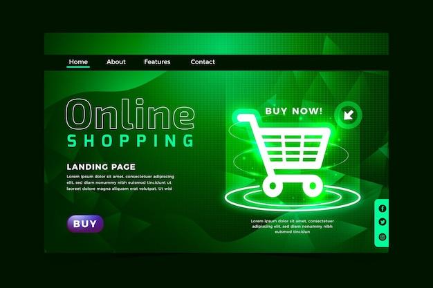 オンラインショッピングのウェブサイトの未来的なスタイル 無料ベクター
