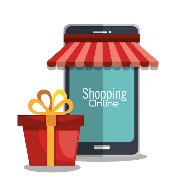 Shopping online Free Vector
