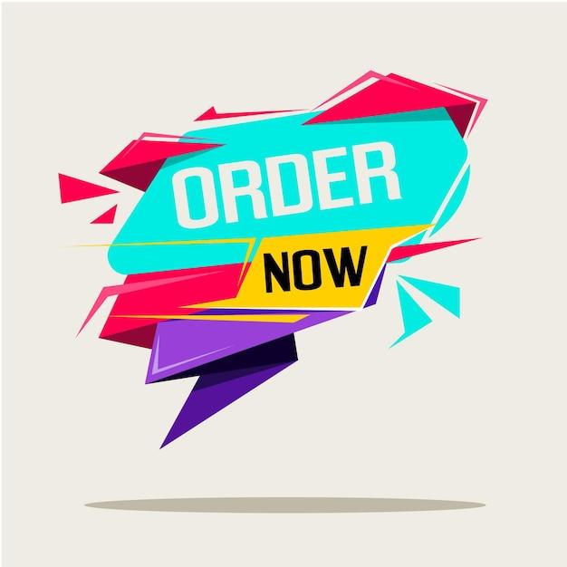 Ordine di acquisto ora banner Vettore gratuito