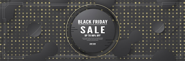 Shopping template of black friday. Premium Vector