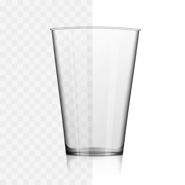 Иллюстрация короткого виски или стакана воды Premium векторы