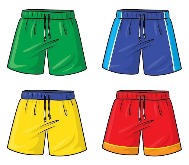 Cartoon Cute Sports Element Hand Drawn Casual Swim Trunks All