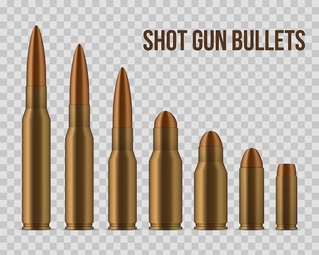Shot gun bullets, holes, gunshot, caliber weapon. Premium Vector