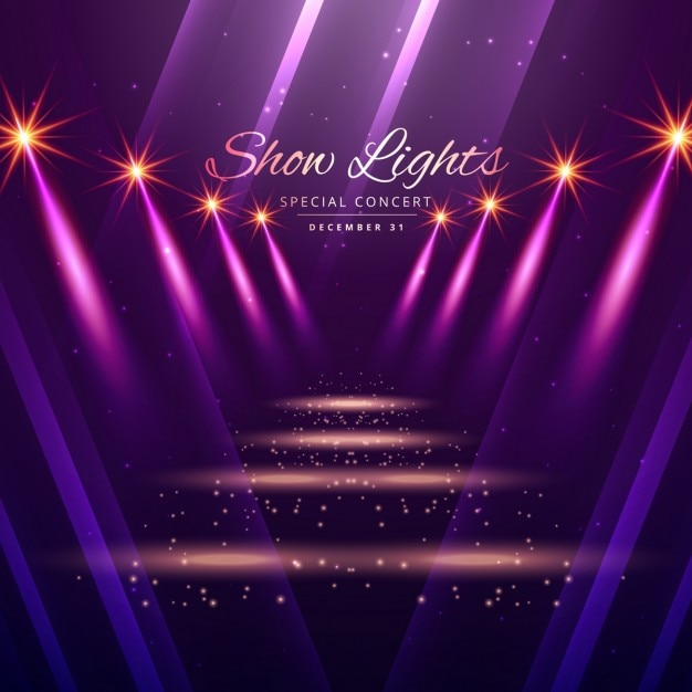 Show Lights Enterance Background Vector Free Download