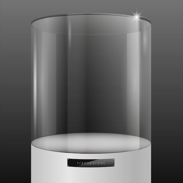 Showcase from glass Premium Vector