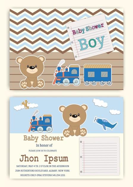 Shower party invitation to print children Stationery Cards Birthday ...