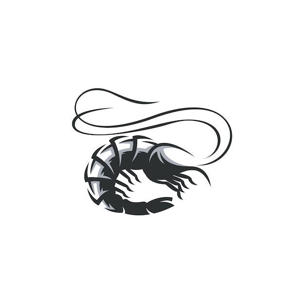 Shrimp drawing illustration isolated Premium Vector