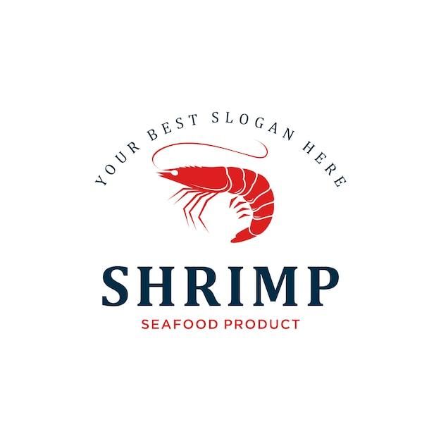 Shrimp logo design inspiration Premium Vector
