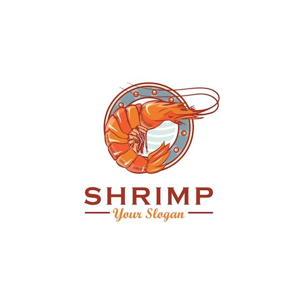Shrimp logo design Premium Vector