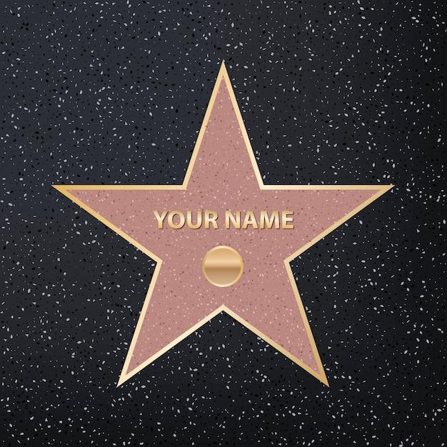 Sidewalk famous actor star Premium Vector