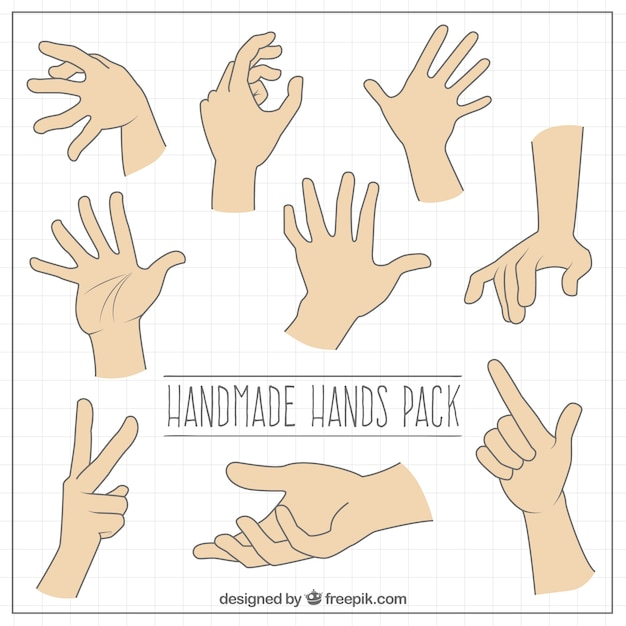 Sign Language Pack Free Vector