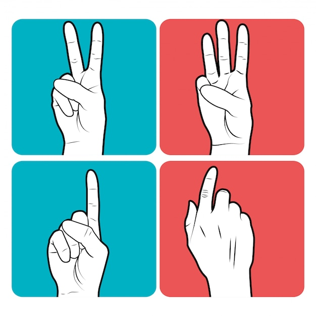 Sign language Free Vector