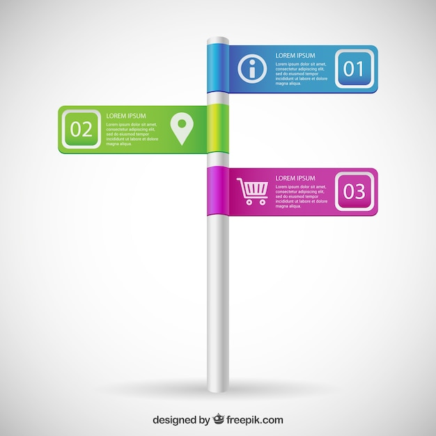 Sign post infographic Free Vector
