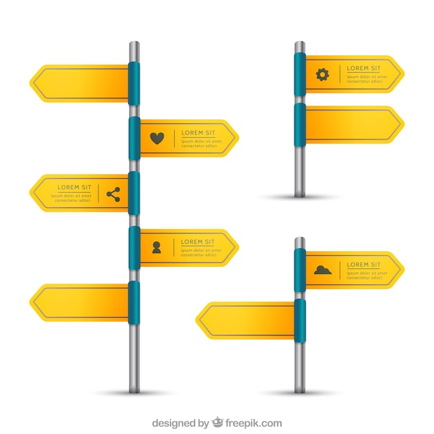 Sign posts Free Vector