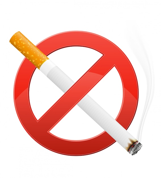 Sign prohibiting smoking vector illustration Premium Vector