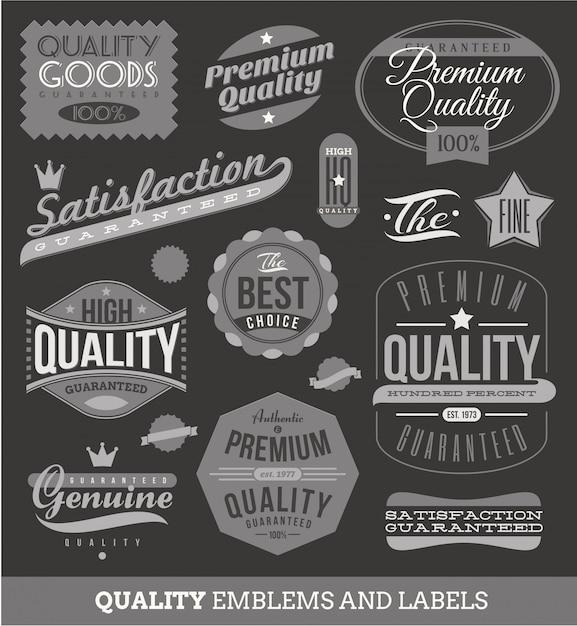 Знаки, эмблемы и знаки качества и гарантии Premium векторы