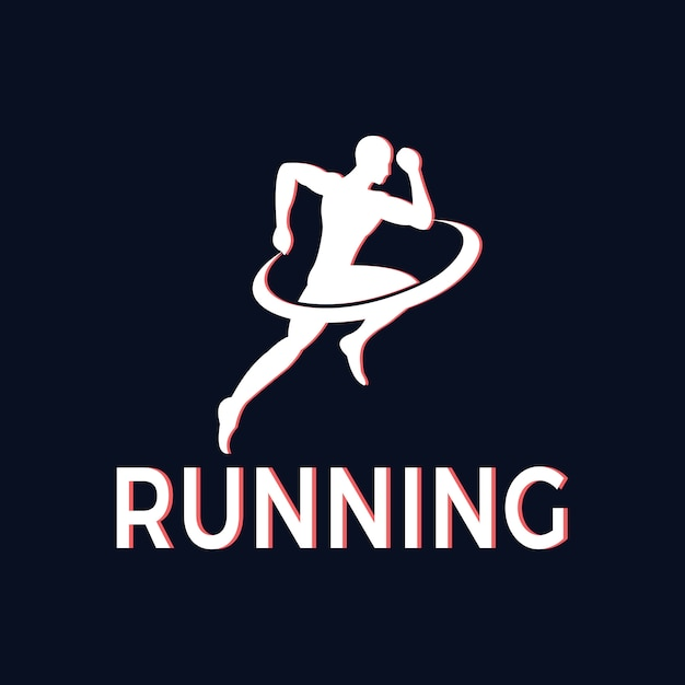 Silhouette of athletes running for health Premium Vector