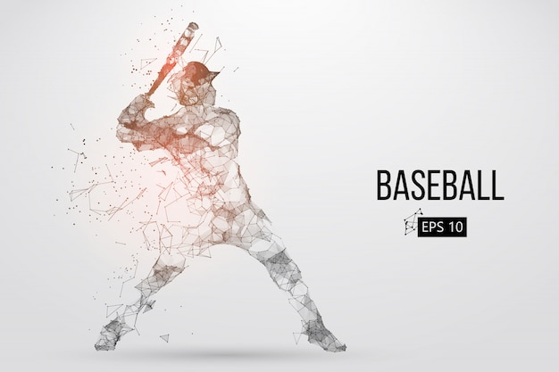 Silhouette of a baseball player. vector illustration Premium Vector