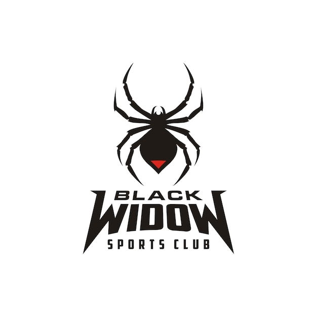 Silhouette Black Widow Spider Insect Arthropod Emblem Sport