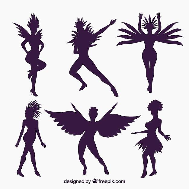 Silhouette brazilian carnival dancer\ collection
