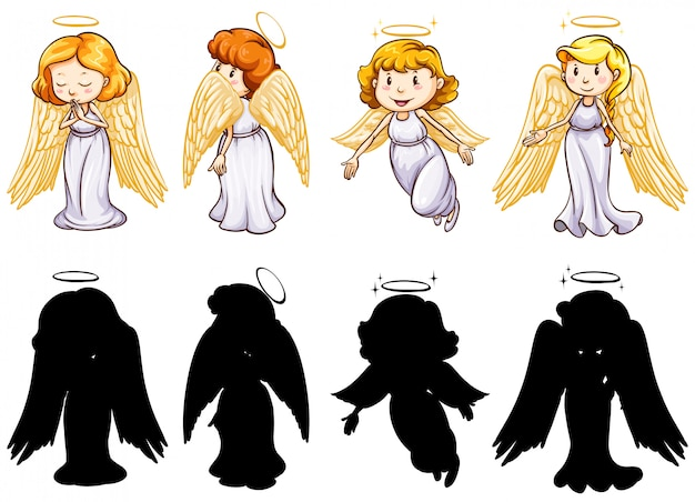 Silhouette, color and outline version Free Vector