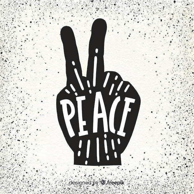 Free Vector Silhouette Hand Peace Sign Background Free hand silhouette clip art. silhouette hand peace sign background