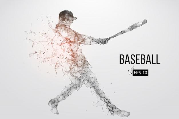 野球選手のシルエット。ベクトルイラスト Premiumベクター