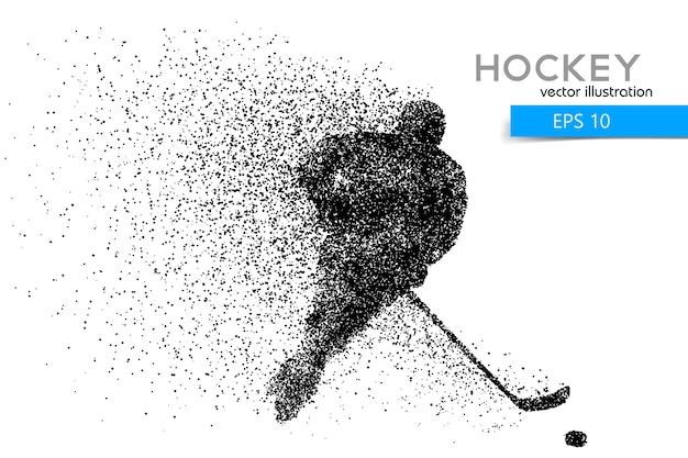 Силуэт хоккеиста Premium векторы