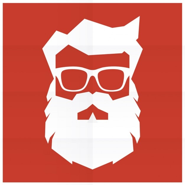 Silhouette of hipster santa claus  Free Vector