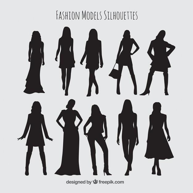 سایه ها مجموعه ای از مدل های با لباس های شیک
