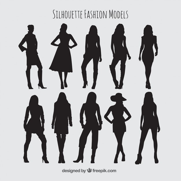 Silhouettes Fashion Models Pack Vector