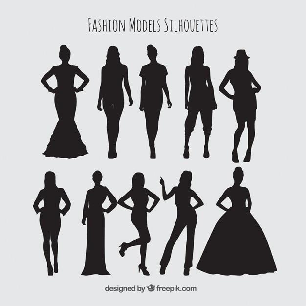 سایه ها زن مدل مجموعه
