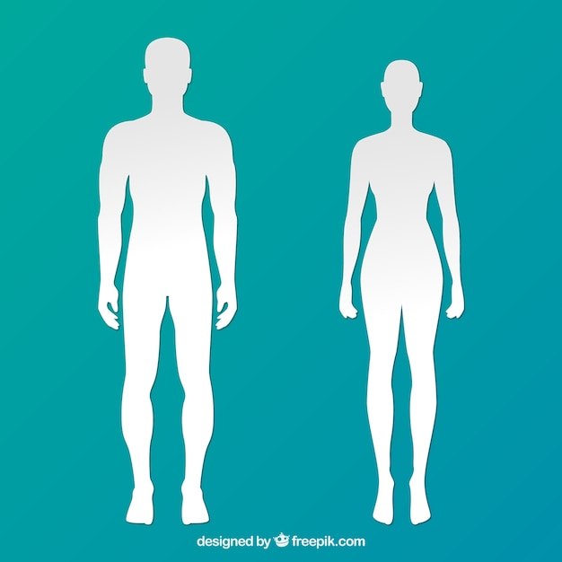 Silhouettes of man and woman Free Vector