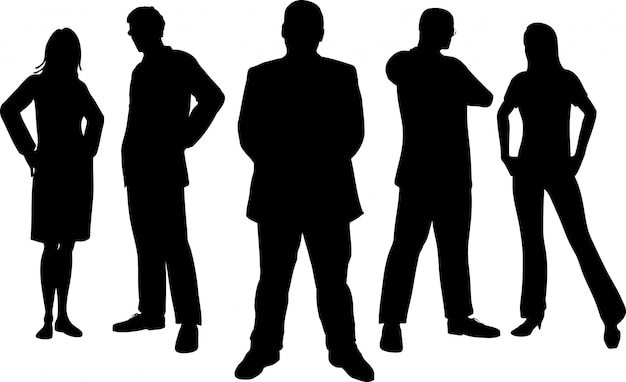 Silhouettes of young professional people Vector | Free ...