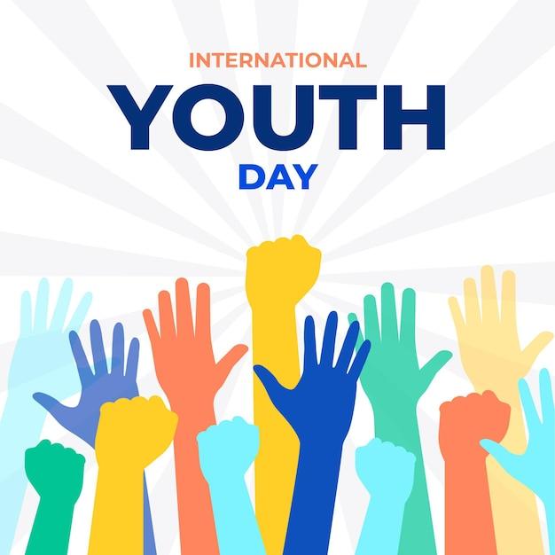 Sagome per l'evento della giornata della gioventù Vettore gratuito