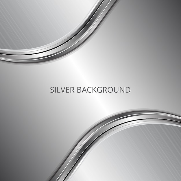 silver background design vector premium download