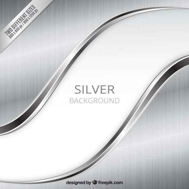 Silver background in wavy style Free Vector