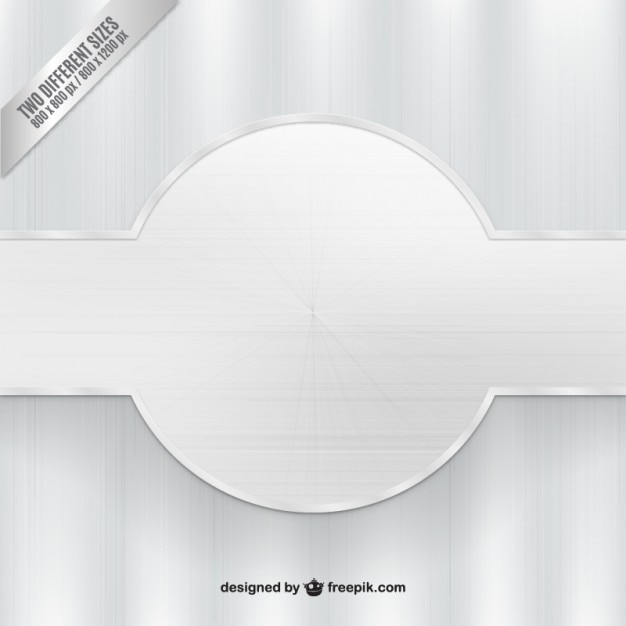 silver background with banner vector free download