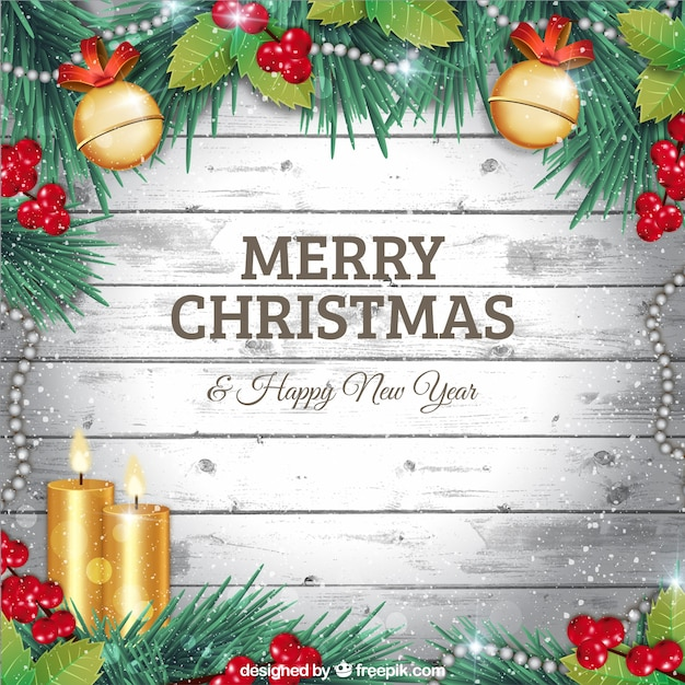 Silver christmas greetings Free Vector