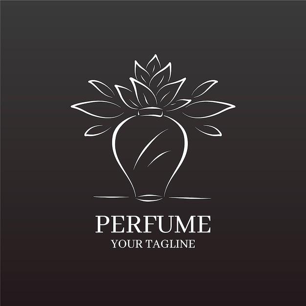 銀の花と花瓶事業会社のロゴ 無料ベクター