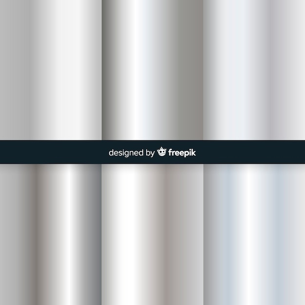 Silver gradient background Free Vector