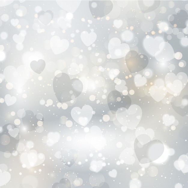 silver hearts bright background vector free download